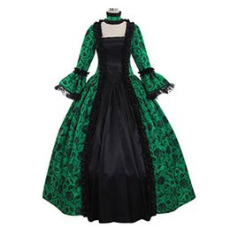 China Victorian Gothic Georgian Period Dress Halloween Masquerade Ball Gown Reenactment Clothing suppliers