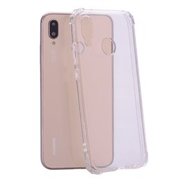 Crystal Clear Phone Cases NZ - 1.5MM Shockproof Soft TPU Case For Galaxy J7 Plus DUO (J2 Pro J6 J4 A8)2018 Note 8 Clear Phone Skin Rose Gold Crystal Blank Silicone Cover