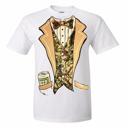 297e7cf0 Camo Tuxedo With Bowtie And Beer Can T-shirt Funny Shirts Funny Tshirts  Tuxedo T Shirt Print T Shirt Summer Style Hot