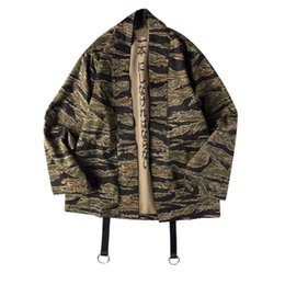 China Japanese Camo Kimono Jackets Japan Style Mens Hip Hop Camouflage Casual Open Stitch Coats Fashion Streetwear Jacket supplier xl mens kimonos suppliers