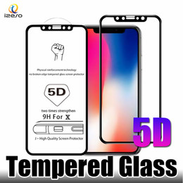 Iphone hd screen protectors online shopping - For iPhone X Tempered Glass H mm D Edge Curved HD Full Covered Screen Protector Film for S Plus