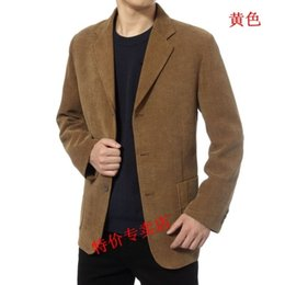men s corduroy jacket Canada - Men Leisure Suit Jacket Spring Autumn Corduroy casual suit Men's clothing Male outerwear Blazers