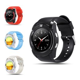V8 Smart Watch Clock con slot per schede SIM TF Bluetooth adatto per iOS Android Phone Smartwatch IPS HD Full Circle Display MTK6261D