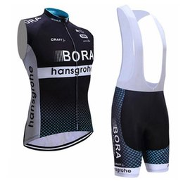 042abd674 2019 BORA cycling Sleeveless jersey bib shorts set NEW road Bicycle maillot breathable  quick dry bike clothing Outdoor Sports suit Y022212