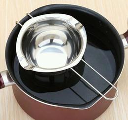 Nueva olla de fusión de chocolate de acero inoxidable caldera de leche doble cuenco tazón mantequilla caramelo pasteles herramientas de la hornada en venta