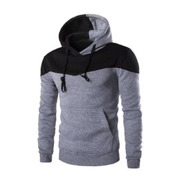 rock sweatshirts UK - Men Patchwork Tracksuit Hooded Fitness Punk Rock Sweatshirt Mens New Arrival Hip Hop Streetwear Hoodies Male Novelty Sweatshirts