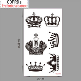 Order tattOO stickers online shopping - Min order Temporary Tattoo For Man Woman Waterproof Stickers makeup maquiagem make up crown Tattoo WM019