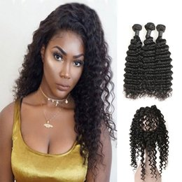 $enCountryForm.capitalKeyWord Australia - Deep Wave And Straight Human Hair Products With 360 Frontal Closure 3 Bundles Indian Virgin Hair Extensions Wholesale Price