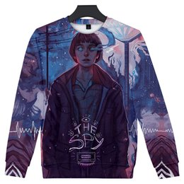 c03c37dd66 Strange things Looking at this day with tears summer Long sleeve Round neck  3D printing men and women beautiful colour clothing