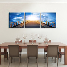 $enCountryForm.capitalKeyWord Australia - Art painting 3 pieces Distant sky high definition print canvas painting poster and wall art living room picture PL3-008