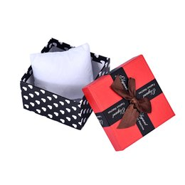 1PC Durable Present Gift Box Case For Bracelet Bangle Jewelry Watch Storage Box Dots Print Cute Bow Red  Boxes Cheap Price