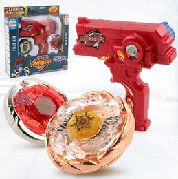 Gyro Toys NZ - 50% Alloy Spinning Top Assembled Constellation Rotary Gyro Gun Kit Bidirectional Handle Launcher toys Red Blue Black 3 Colors