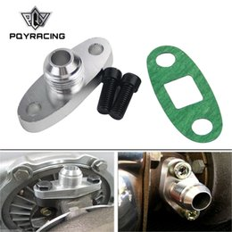 PQY - Flange do dreno do óleo do turbocompressor 10AN GT40 GT42 GT45 GT45 T3 / T4 T3 T4 ODF-01 prata GTQ-OFG33 em Promoção
