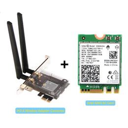 bluetooth pci cards Canada - Desktop PCI-E 1X Wireless Adapter Converter With 1730Mbps Wifi Network Card 9260NGW For Intel 9260 Bluetooth 5.0 for Windows 10