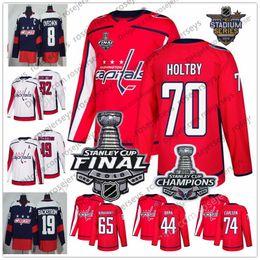 Washington Capitals  74 John Carlson 44 Brooks Orpik 65 Andre Burakovsky 63  Shane Gersich 2018 Stanley Cup Champions Red White Jerseys S-60 455df0f23