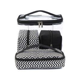 $enCountryForm.capitalKeyWord NZ - Multi-function Cosmetic Bag Transparent PVC Portable Combined four piece suit Wash bags Travelling handbag Receive Canvas bag