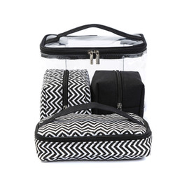 f20502db5a Sac à cosmétiques multifonctions Transparent PVC Portable Combinaison de  costume quatre pièces Sac de lavage Sac