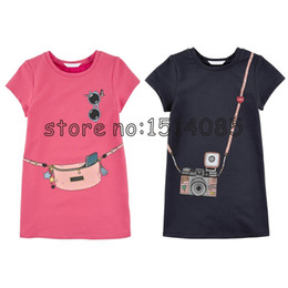 $enCountryForm.capitalKeyWord Canada - girls dress HOT New 2016 Kids girls clothes cute cartoon Dress, 2 colors of red and pink nice Clothes, lovely baby girls dress