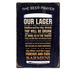 $enCountryForm.capitalKeyWord Australia - The Beer Prayer Vintage Metal Tin Signs Bar Pub Cafe Home Kitchen Wall Decor Art Poster Retro Plaque Metal Painting Ajax N022 Y18102409