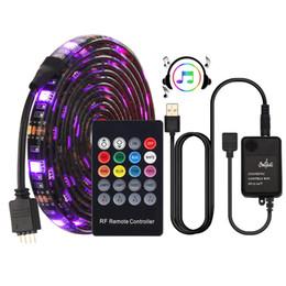Sound Controller Australia - USB LED Strip 5050 RGB Music controller Sound sensor with RF Remote IP20 IP65 Music LED Strip Light