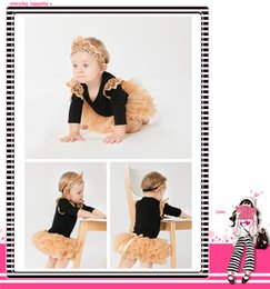 $enCountryForm.capitalKeyWord NZ - 2PCS Christmas Newborn Baby Ruffle Black Romper Dress + Headband Party Outfit Costume Xmas Clothes for Girls