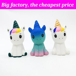 43f1ff5ef73 Squishy Female unicorn 12cm 6cm 6cm huge Slow Rising Soft Squeeze Cute Cell  Phone Strap gift Stress children toys Decompression Toy