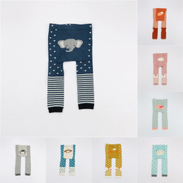 Toddler carToon TighTs online shopping - Cartoon Baby PP Pants Baby Toddler Winter Clothing Warm Unisex Baby Cotton Tights Kids animal Design Leggings