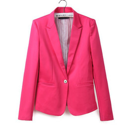 512e2f612d1 NEW spring autumn women suit jacket One grain buckle candy color women s  jacket small suit Slim Lapel XS-XL