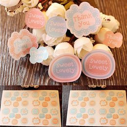 $enCountryForm.capitalKeyWord Canada - 32pc set sealing sticker tag for candy cookie box bag chocolate paper gift package Birthday Wedding Party favor DIY flower thank you etc