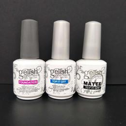 Wholesale Top Quality Soak Off Nail Gel Polish For Nail Art Gel Lacquer Led uv Gelish Base Coat Free DHL