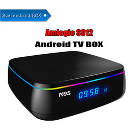 Tv Androids Octa Core Canada - High quality android 6.0 TV BOX M9S MIX Amlogic S912 Octa-core 2GB 16GB BT4.0 2.4G 5GWIFI 1000M Smart box 4K Streaming Media Center