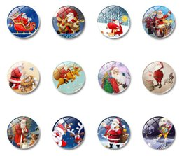 Discount cartoon glass stickers - Christmas Fridge Magnets Glass Elk Santa Claus Decorative Refrigerator Magnets Christmas Gifts Present Message Board 30m
