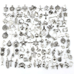 Wholesale Mix Charms Vintage Antique Silver Mini Life Alloy Pendant DIY Jewelry Making