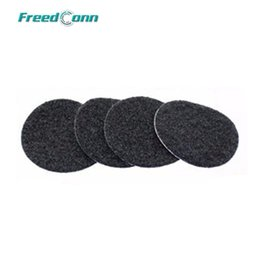 Speaker Ear Australia - FreedConn 4PCS Felted Adhesive Earphone Pads for FDCVB T-COMSC T-COMVB T-COMFM COLO Ear Speaker and Microphone