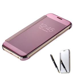 $enCountryForm.capitalKeyWord UK - New Mirror smart sleep Flip Case For Samsung Galaxy S5 S6 S7 Edge S8 S9 A8 Plus 2018 Note 9 8 A3 A5 A7 J3 J5 J7 Pro iphone xs max xr x 8 7 6