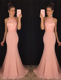 Sexy Country Bridesmaids Dresses NZ - 2018 sexy cheap plus size pink mermaid chiffon country bridesmaid dresses bridesmaid robes wedding party dress