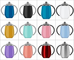 $enCountryForm.capitalKeyWord NZ - 9oz Stainless Steel Sippy Cups Double Wall Vacuum Insulated Tumbers Water bottle Baby Milk thermo Flask Travel coffee Mugs In STOCK