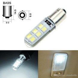 $enCountryForm.capitalKeyWord Australia - 50pcs White DC12V Car T4W BA9S 12SMD 2835 Chip Silicone Case LED License Plate Bulbs Lamp Door Light #4645