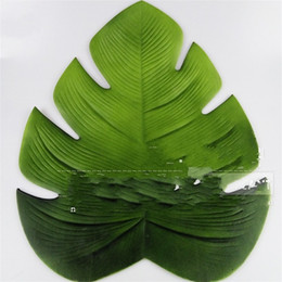 InsulatIon pad waterproof online shopping - Creative PVC Table Mat Waterproof Oil Proof Insulation Artificial Turtle Leaf Tableware Pad Fashion Home Kitchen Decor Accessory qs YY