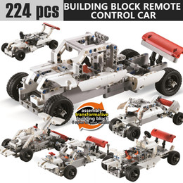 blocks cars NZ - New 224pcs block SDL 2017A-27 2 Channels 10-in-1 DIY Blocking Remote Control Vehicle Car best gift toys wholesale Remote Control