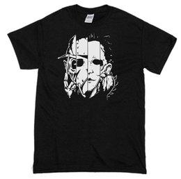 Clássico Horror T-Shirt, Jason, Krueger, Cara De Couro, Michael Myers Imprimir Camisas Homem Camisas De Manga Curta Para Homens venda por atacado