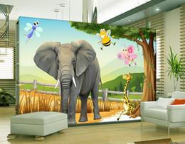 $enCountryForm.capitalKeyWord NZ - Custom 3d wall murals wallpaper 3d photo wallpaper HD 3D Animal World Children's TV Background Wall papers home decor