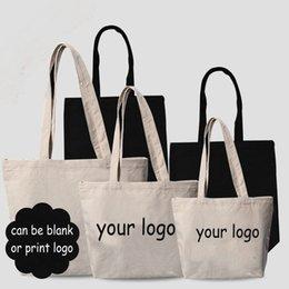 DIY en blanco negro de color blanco bolso de mujer de lona de los niños bolso de moda de gran capacidad bolso de compras 3size puede imprimir su logotipo A061