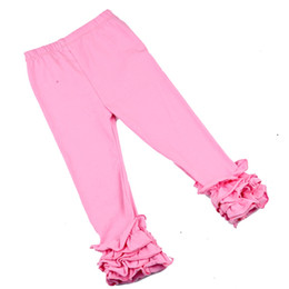 11a828f6b3ff2 Girls Icing Ruffle Leggings Icings Persnickety toddler ruffle pants Triple  leggings capris 1-8 years old baby girl clothes