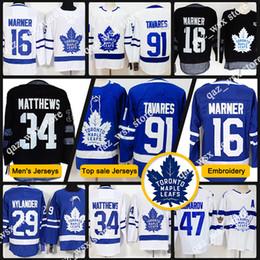 633f72d9c28 Toronto Men Jersey 34 Auston Matthews 31 Frederik Andersen 16 Mitchell  Marner 43 Nazem Kadri 29 william nylander Maple Leafs Hockey Jersey