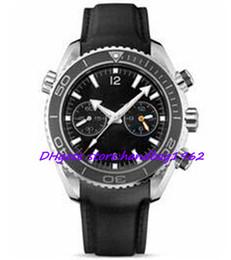 $enCountryForm.capitalKeyWord UK - Luxury Mens Quartz Chronograph Watches Casual Swiss Rose Gold 18K Sea Planet Ocean Co-Axial 600M date Fashion Men Leather Watch Strap Sale