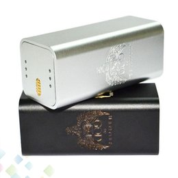 Hammer fit online shopping - Hammer of God V3 Box Mod Square Metal Tube fit Battery RDA Atomizers Black Silver Colors Ecig DHL Free