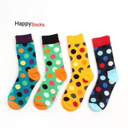 Happy Baseball Australia - 24pcs=12pairs Happy Lovers Socks Fashion High Quality Mens Polka Dot Socks Men's Fashion Personality Casual Cotton Sock Multicolor Socks