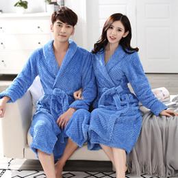 Robe Warmer Canada - Mix and Match Welcome Free shipping ACI-235 Hot Sale Lovers Silk Flannel Warm Long Bathrobe Women Dressing Gown Bride Kimono Bath Robe Femme