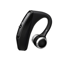 Wireless Headphones Mic Blue UK - V12 Business Bluetooth Headset Wireless Handsfree Office Bluetooth Earphones Headphones with Mic Voice Control Noise Cancelling